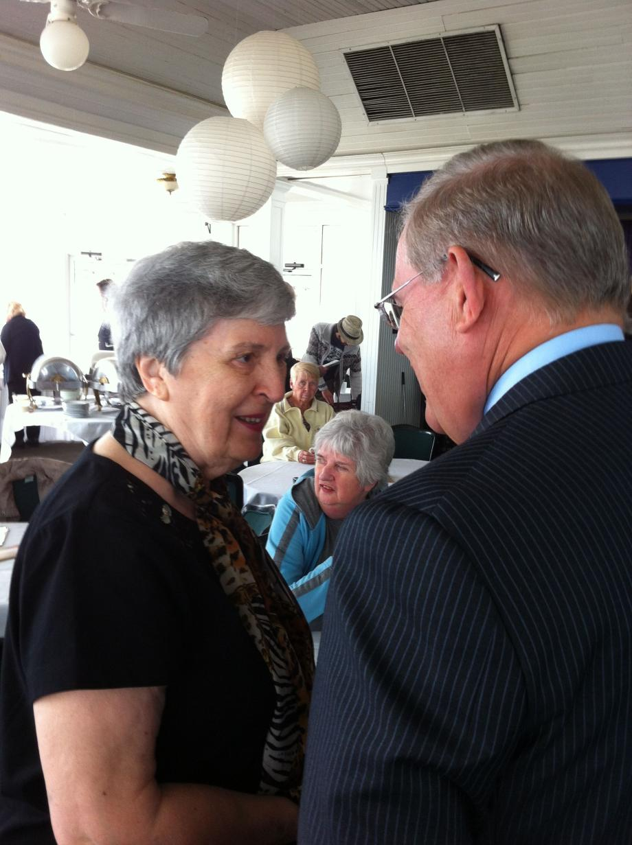Menendez Visits with Belmar Seniors