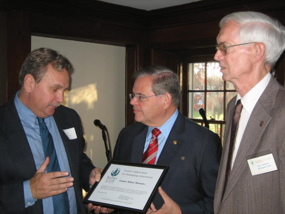 New Jersey Sierra Club Awards Senator Menendez with Outstanding Achievement Award (Princeton, NJ)