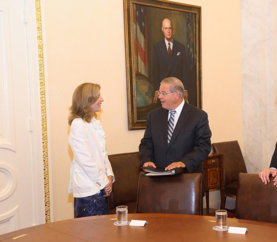 Chairman Menendez and Ambassador Caroline Kennedy