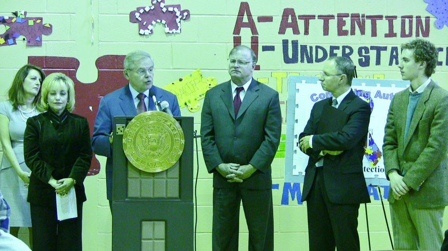 Menendez Celebrates Signing of Comating Autism Reauthorization Act