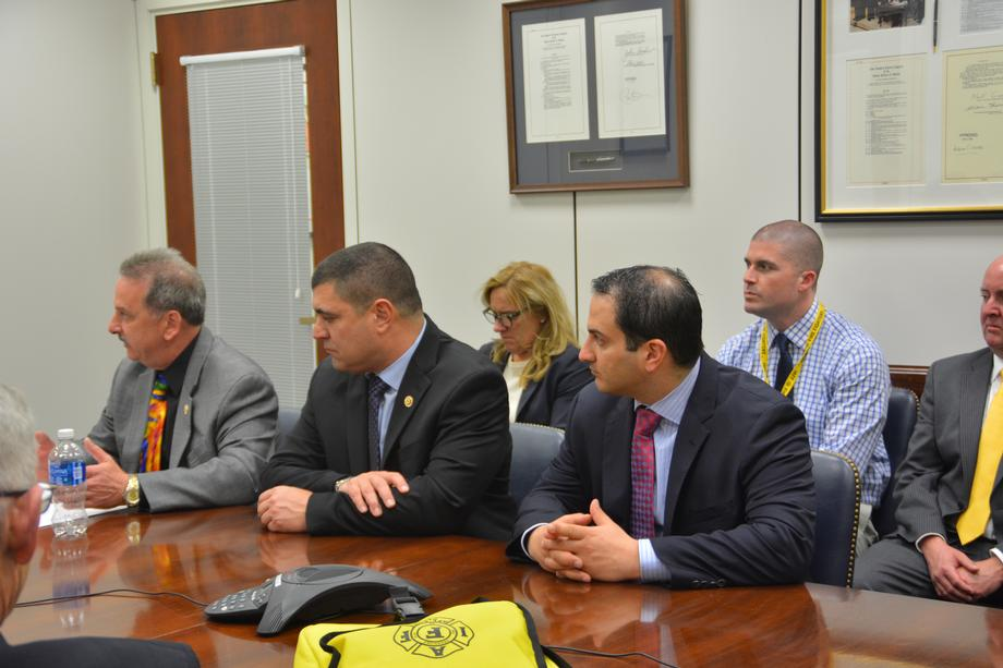 Senator Menendez Meets with the Professional Firefighters Association of New Jersey