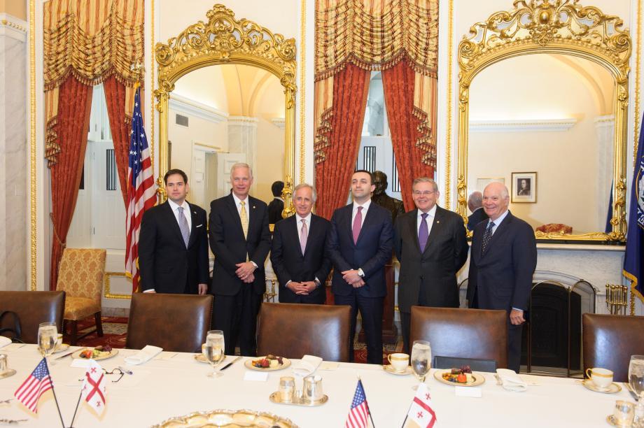Prime Minister Irakli Garibashvili of Georgia visits members of the Foreign Relations Committee