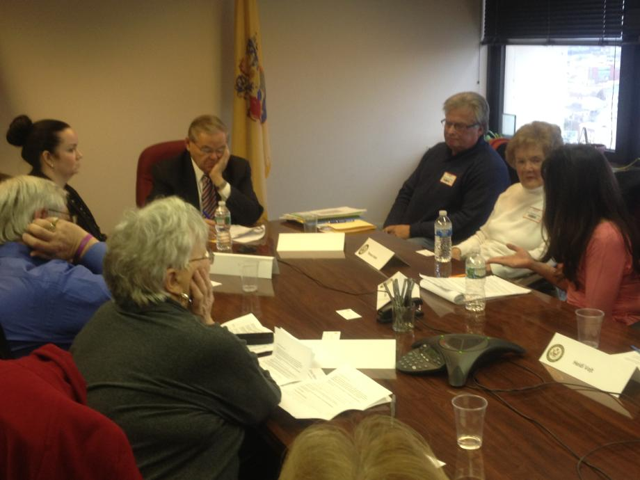 Meeting with NJ Sandy Victims