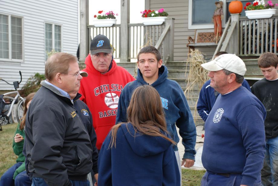 Meeting with residents in Brigantine neighborhood. October 31, 2012