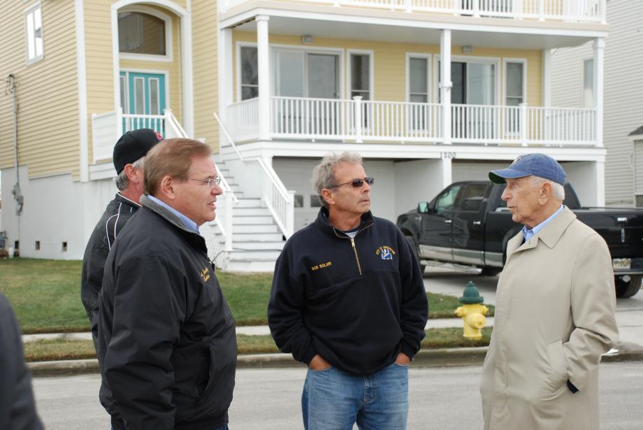 With Senator Frank R. Lautenberg (R). Brigantine, NJ October 31, 2012