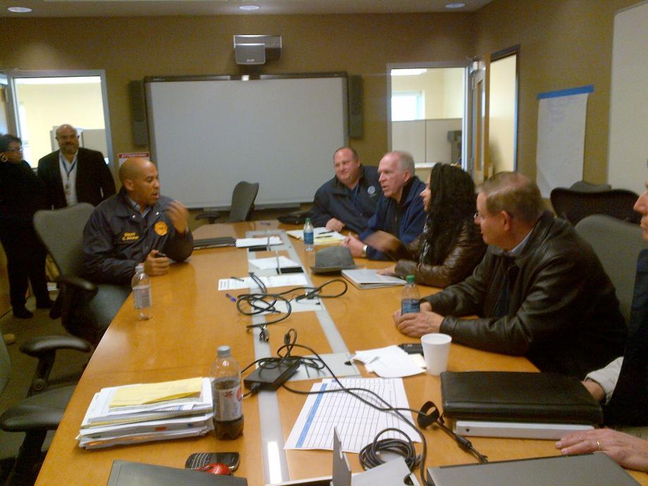 In Newark with Mayor Cory Booker & John Brennan, Dept. National Security Advisor. November 3, 2012