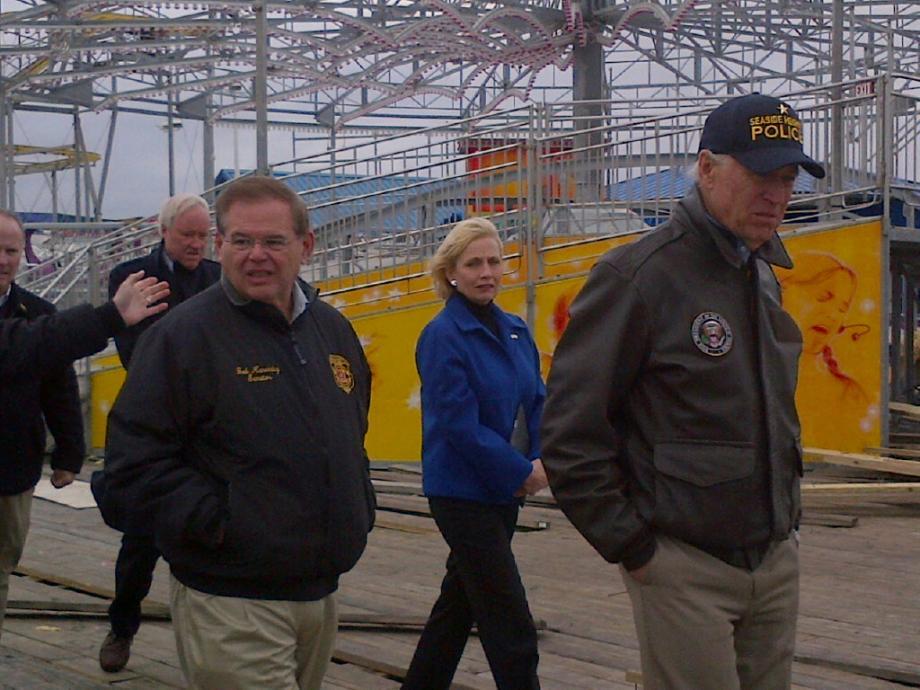 Seaside Heights boardwalk with Vice President Biden. November 18, 2012