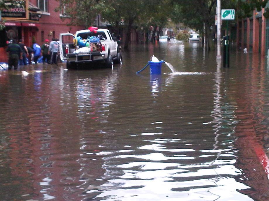 More flooding in Downtown Hoboken near 2 - 3 street.  October 30, 2012