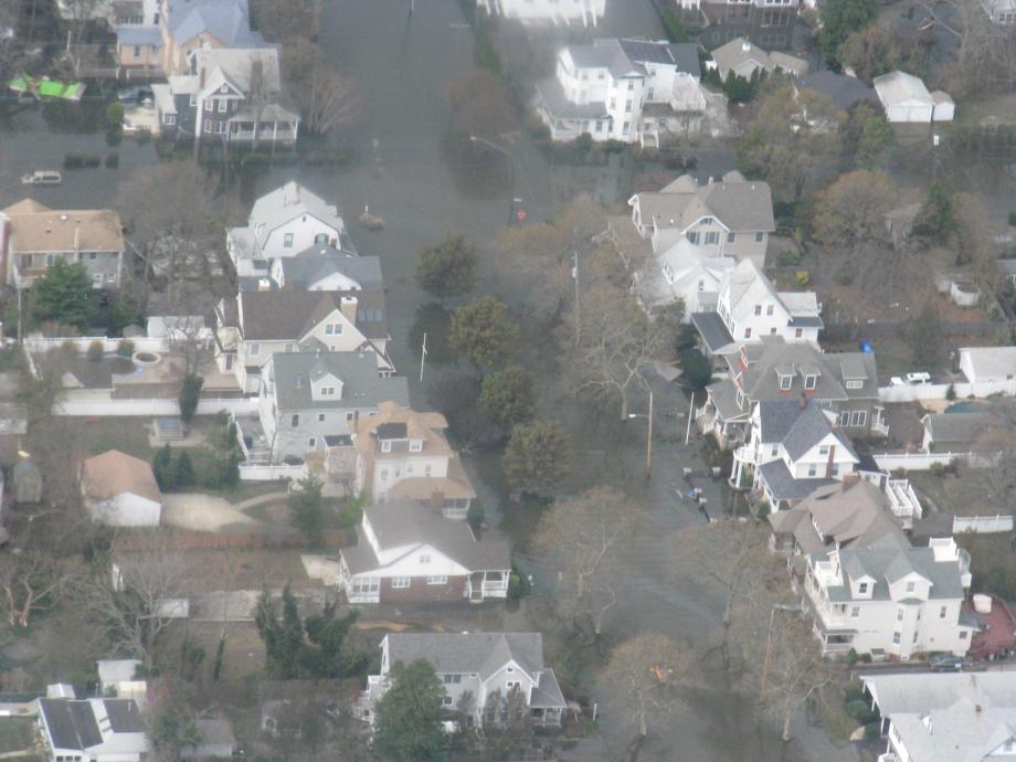Aerial view of Belmar area. November 1, 2012
