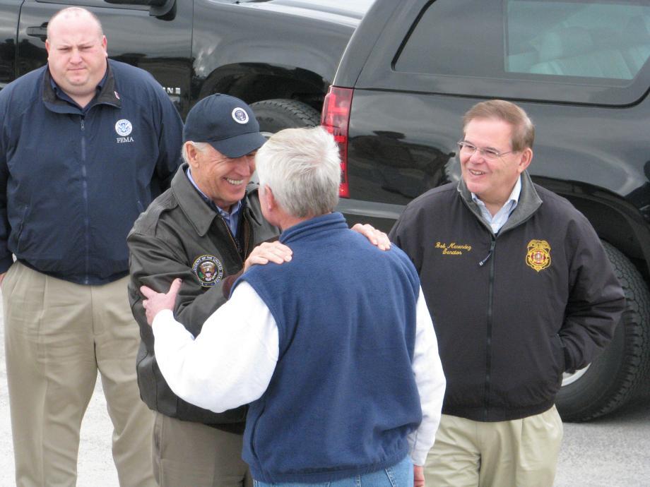 Meeting with Seaside Heights Mayor & Vice President Biden. November 18, 2012