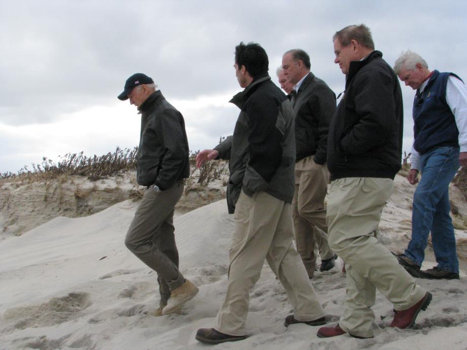 Touring Seaside Park Beach with Vice President Biden. November 18, 2012