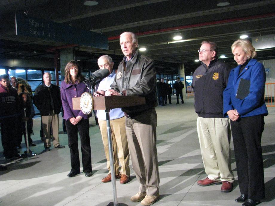 Press Conference at Hoboken terminal. November 18, 2012