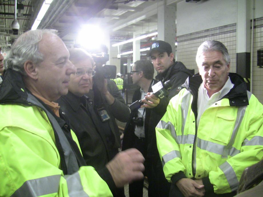 Newark Penn Station Presser with Secretary LaHood. November 2, 2012