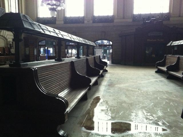 Hoboken Train Station. November 2, 2012.