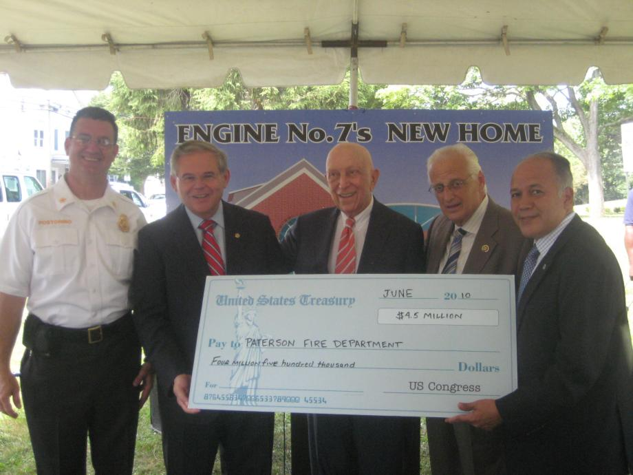 Announcing $4.5 Million for the Construction of a New Firehouse in Paterson (Paterson, NJ)