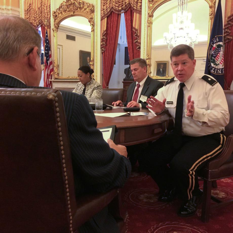 Meeting with General McGuiness