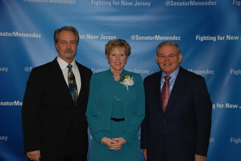 Senator Menendez with Kathleen Assini and her husband.