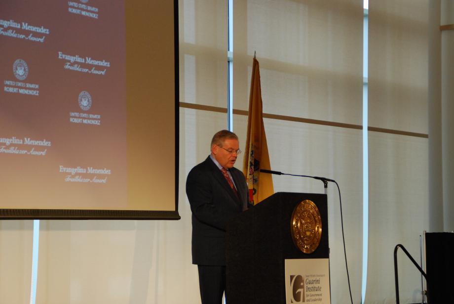 Senator Menendez speaking.