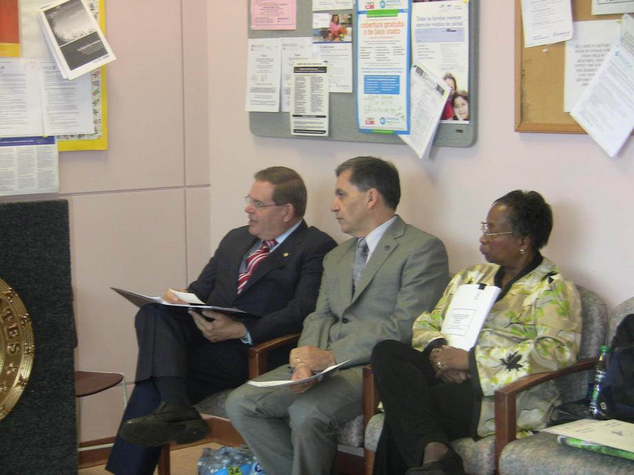Menendez, Pallone at Monmouth Family Health Center Talk Expansion
