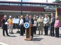 Metropark Station Press Conference with Secretary La Hood (Iselin)