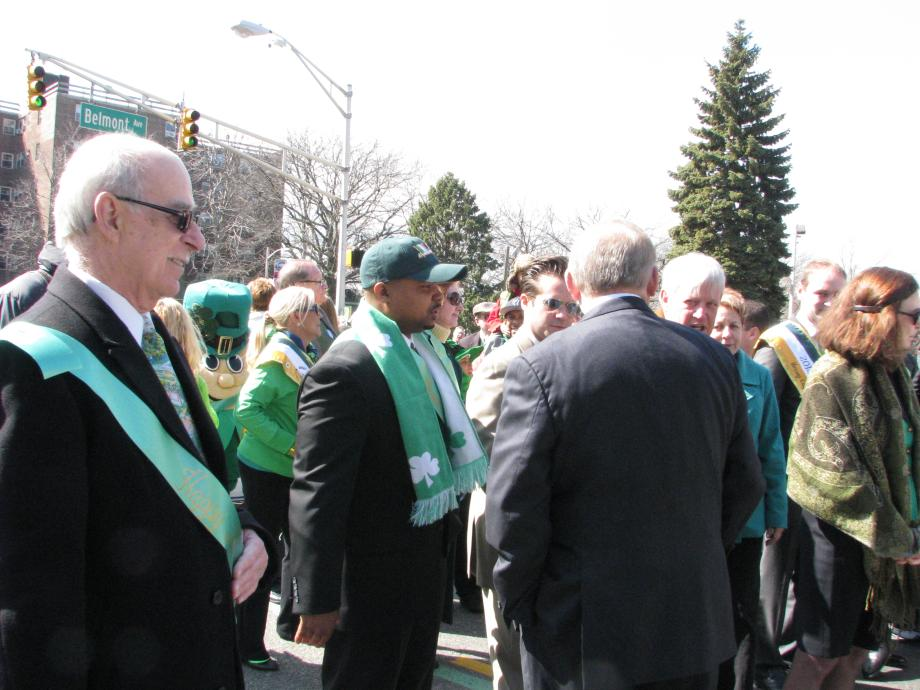 Menendez Attends St. Patty's Day Parade in Jersey City
