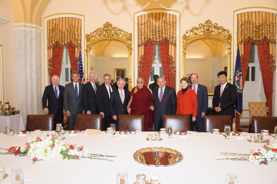 Members of the Senate Foreign Relations Committee meets with His Holiness the Dali Lama