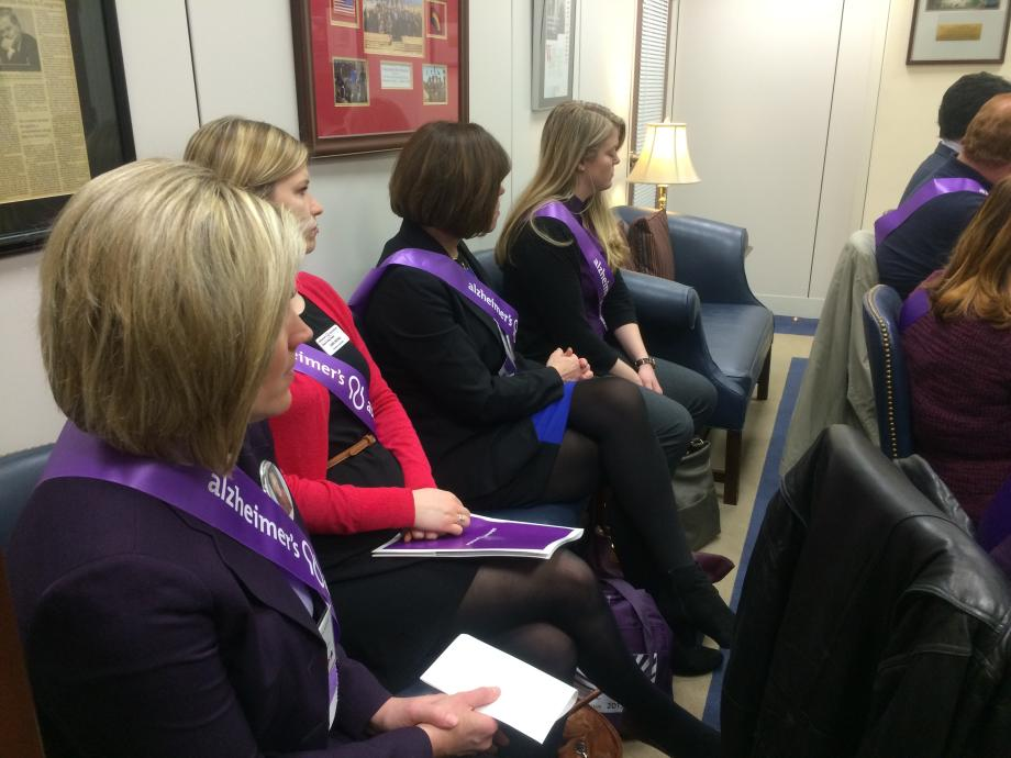 Alzheimer's Association Members from NJ Visit