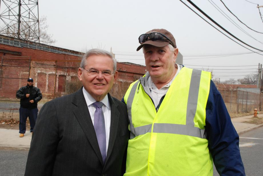 U.S. Sens. Bob Menendez and Cory Booker, Congressman Donald Norcross and Camden Mayor Dana Redd announcd a $200,000 grant from the Environmental Protection Agency (EPA) to create a locally-driven cleanup and redevelopment plan and launch new economic opportunities in Camden's Mt. Ephraim neighborhood.