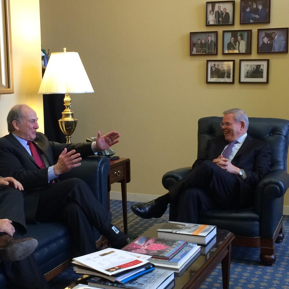 Rutgers University President Visits