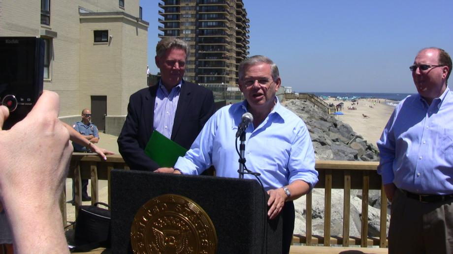 Menendez Secures Funds for Beach Replenishment (Monmouth Beach)