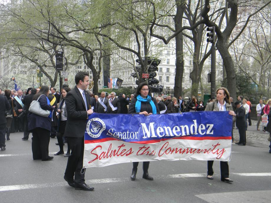 Greek Parade Honors Menendez with Role of Grand Marshall (New York City)