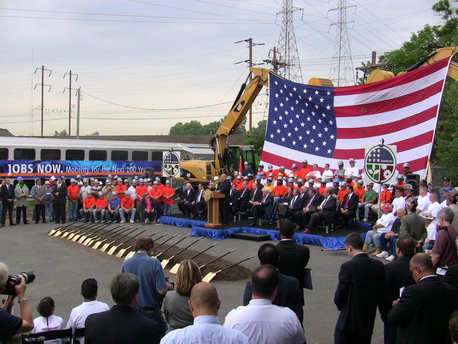 Mass Transit Tunnel groundbreaking (North Bergen)