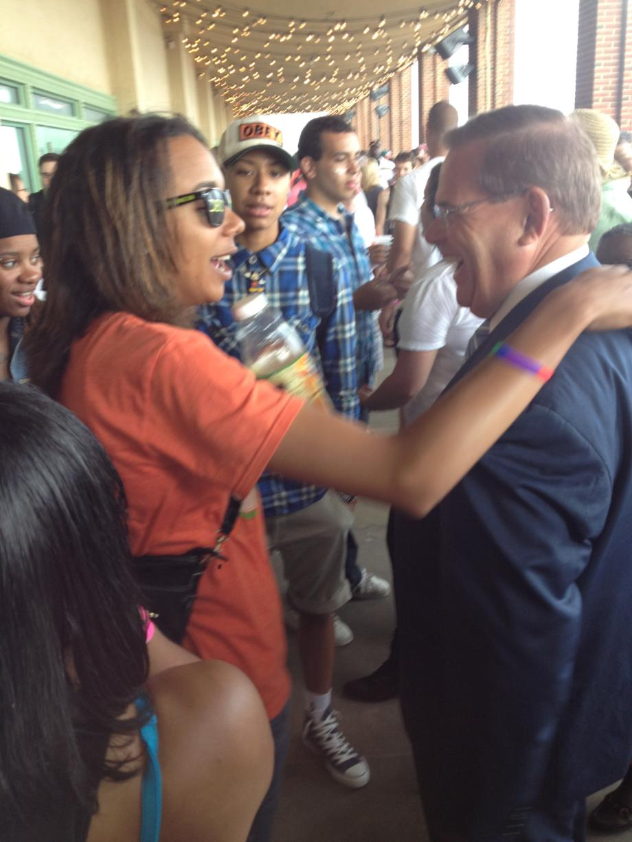 Menendez at Asbury Parks Annual Pride Parade