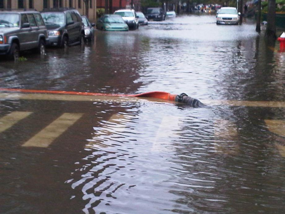 PHOTO NUMBER 6. Flooded Streets in Hoboken. October 30, 2012.