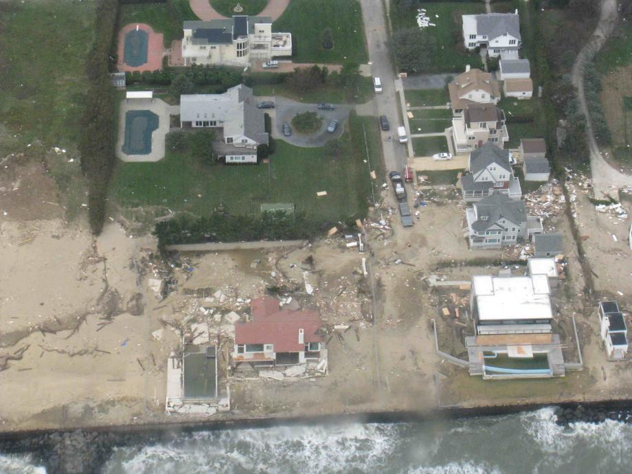 PHOTO NUMBER 4. Aerial view of destruction in Sandy Hook, NJ. November 1, 2012.