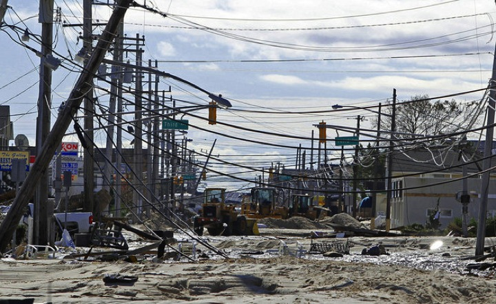 PHOTO #11. Extensive damage to power utilities. Seaside Heights. Photo: Star Ledger
