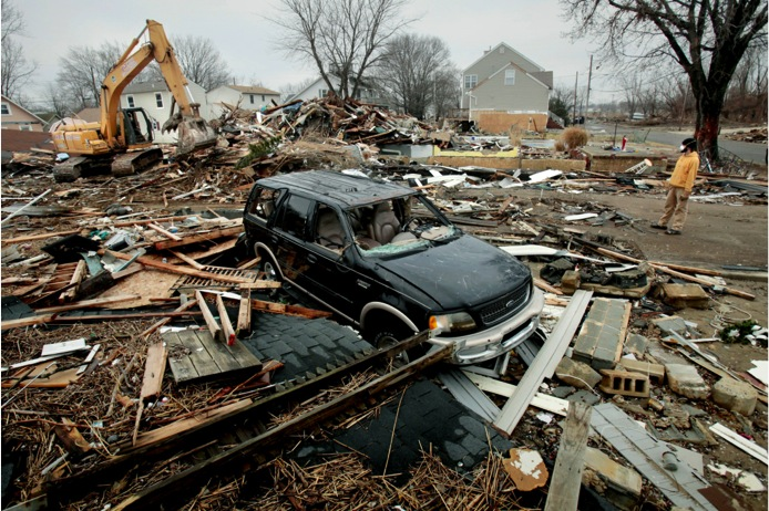 PHOTO #7. Homes leveled in Union Beach. Photo: Star Ledger