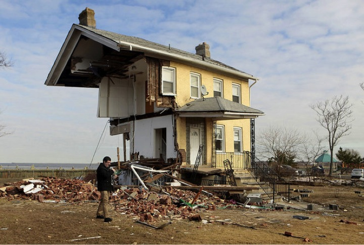PHOTO #8. Shore properties ravaged by Hurricane Sandy in Union Beach. Photo: Star Ledger