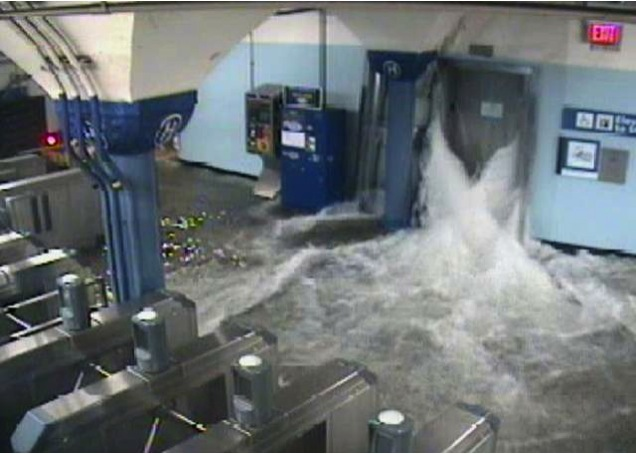 PHOTO #10. Storm surge flooded Hoboken PATH. Photo: Port Authority
