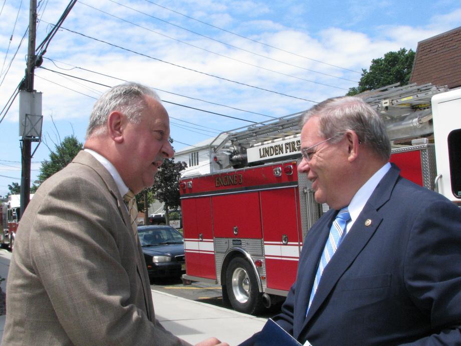 Senator Menendez and Linden Mayor Richard Gerbounka.