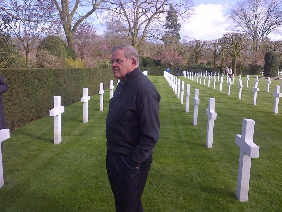 Chairman Menendez at the WWI American Cemetery in Flanders Field, Belgium.