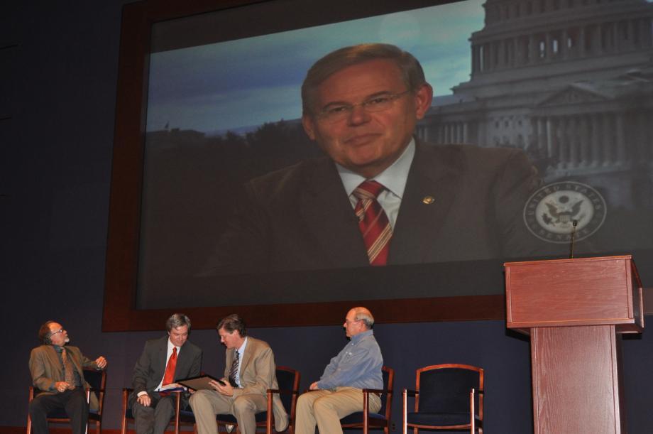 Senator Menendez delivers congratulatory video message