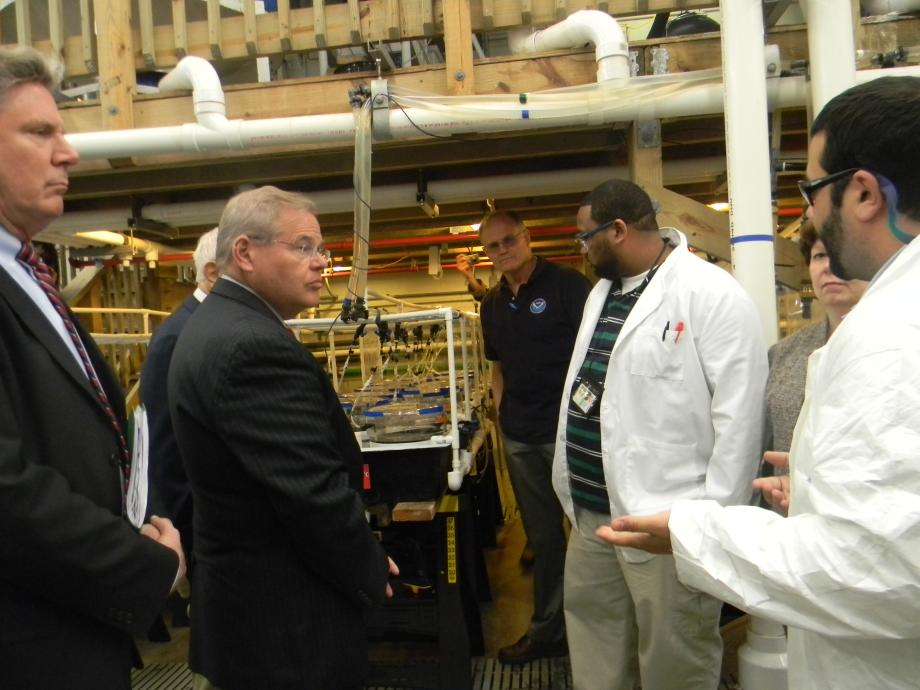 Menendez, Lautenberg, Pallone Visit NOAA's Howard Lab at Sandy Hook, Fight to Keep it Open