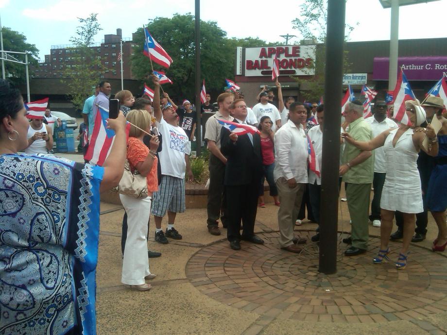 Puerto Rican Flag Raising Ceremony in Passaic