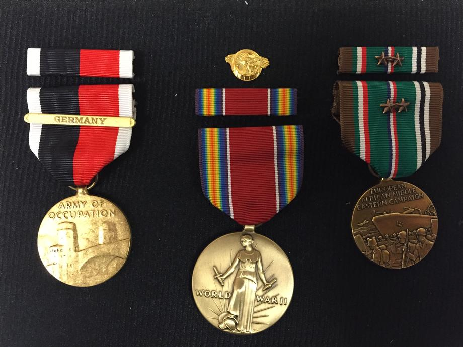 Awarding of Service Medals to Family of Late WWII Vet
