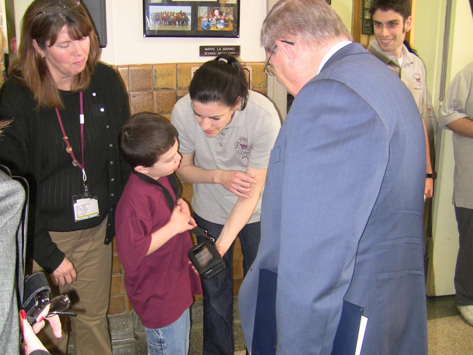 Menendez Tours School for Austistic Children, Meets with Parents, Experts and Advocates (Nutley, NJ)