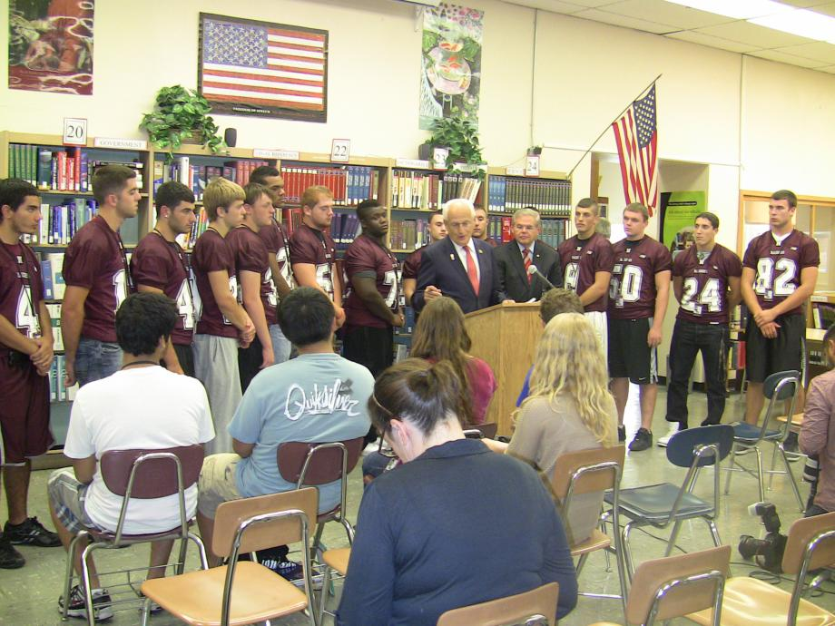 Menendez, Pascrell Announce New Guidelines to Protect Student Athletes  (Nutley, NJ)