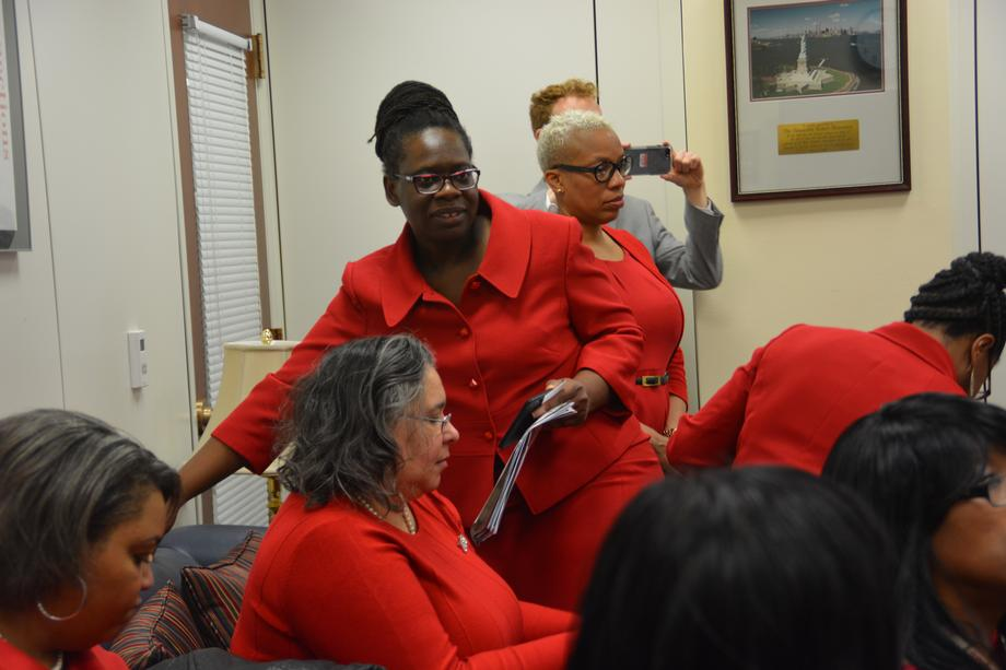Senator Menendez Meets with Members of Delta Sigma Theta