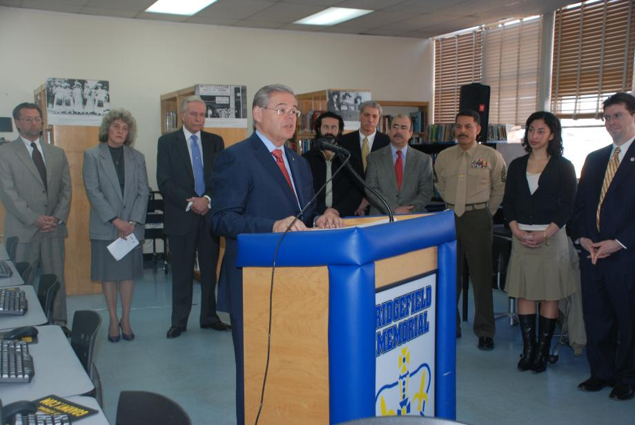Announcement of Education Funding at Ridgefield Memorial High School