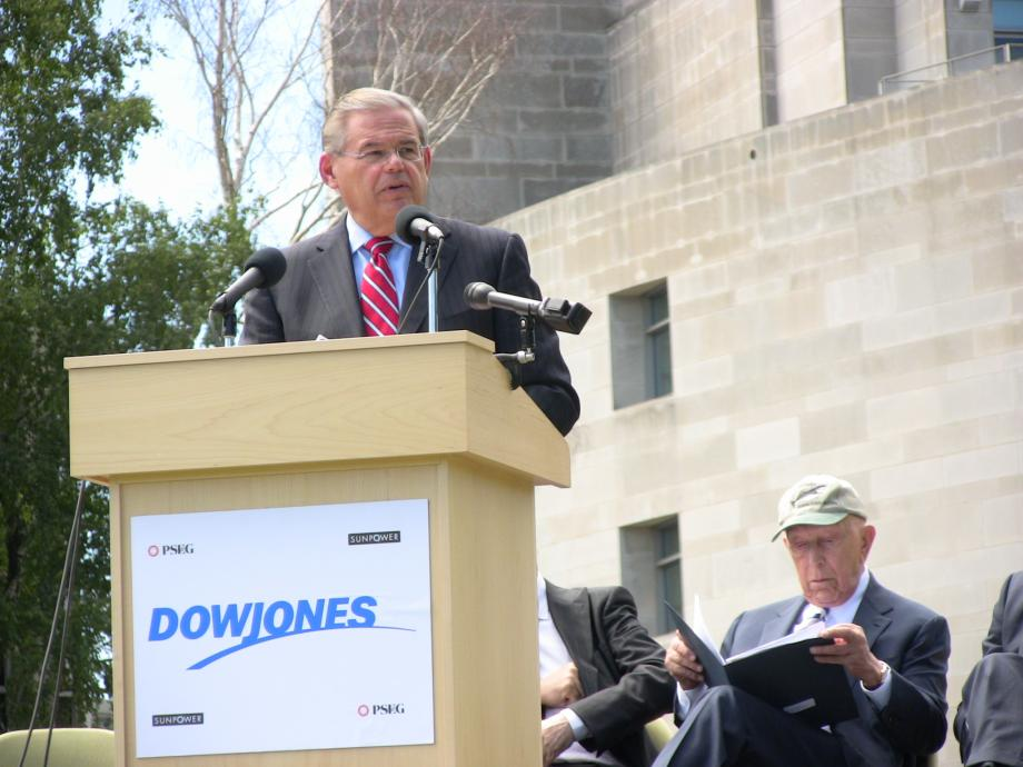 Grounbreaking of Dow Jones solar power installation (South Brunswick, NJ)